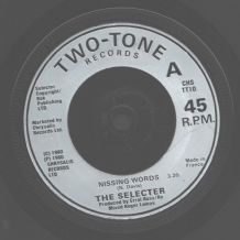 The Selecter - Missing words (Misspelled Label) c/w Carry Go bring Come (Live)